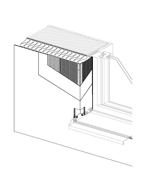 Detalle formacion fachada vierteaguas ventana - ea etics