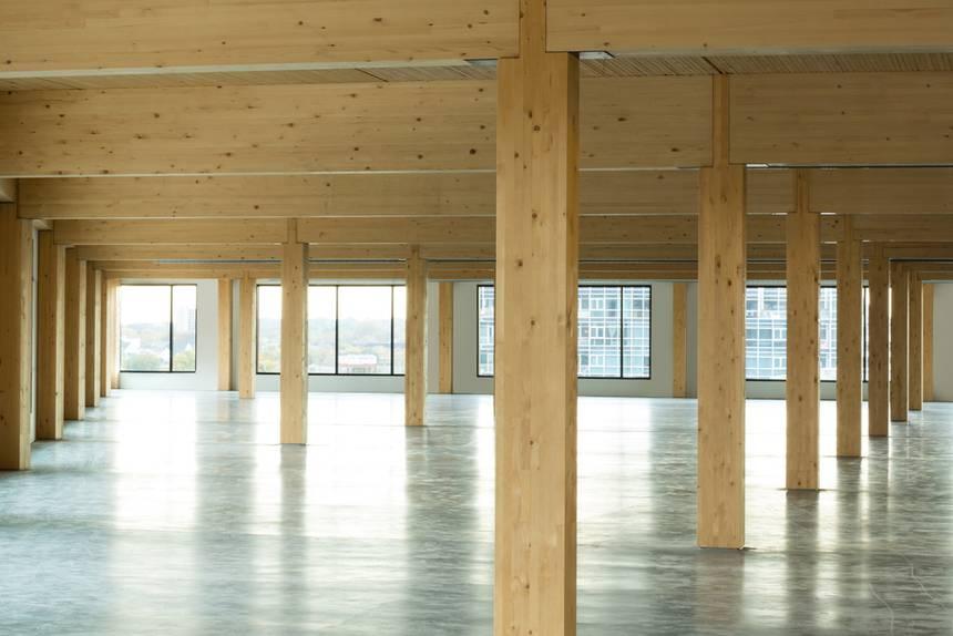 ite arquitectes - estructura madera pilar